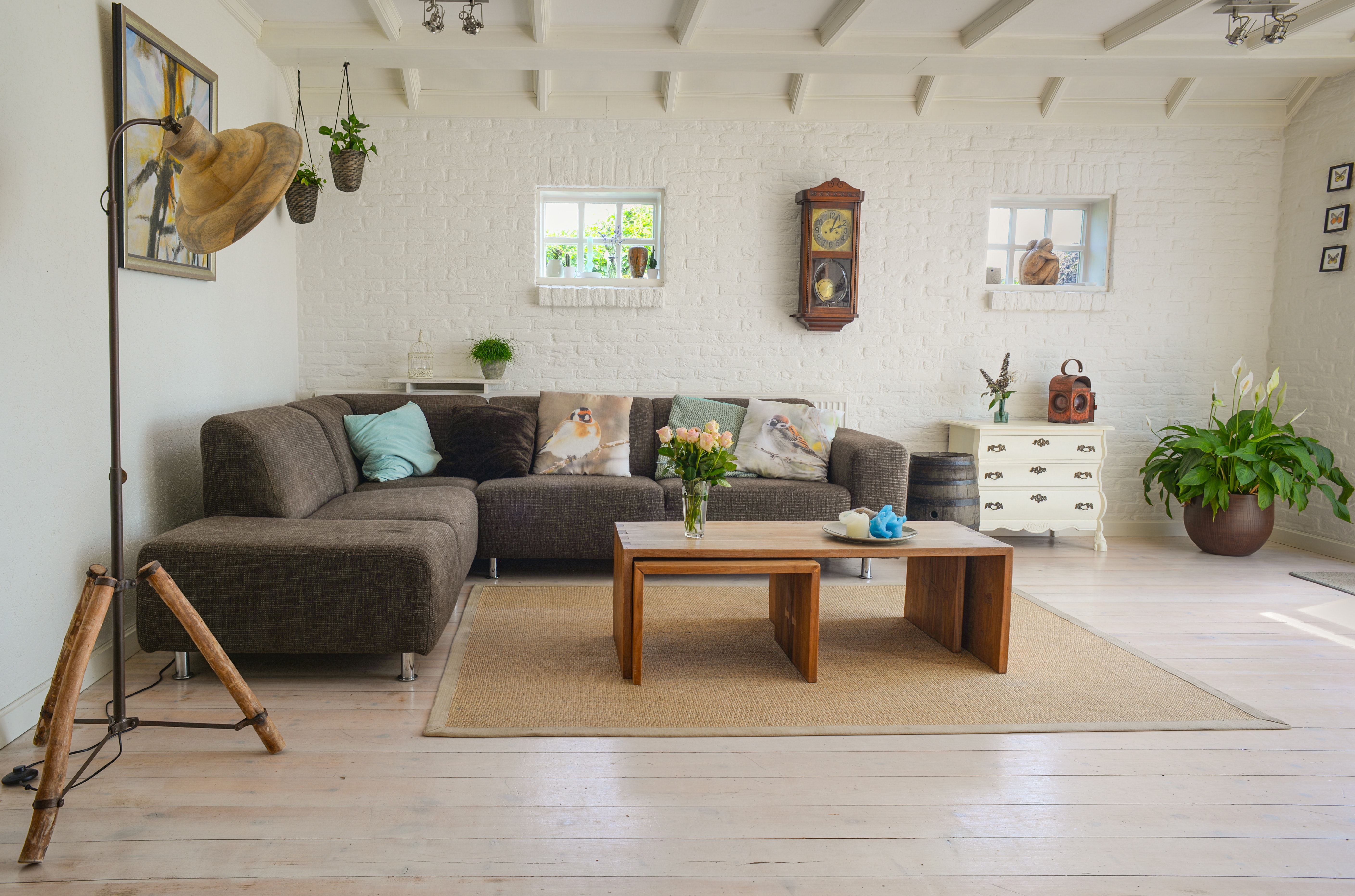brown wooden center table 584399 1 Top 10 Living Room Design