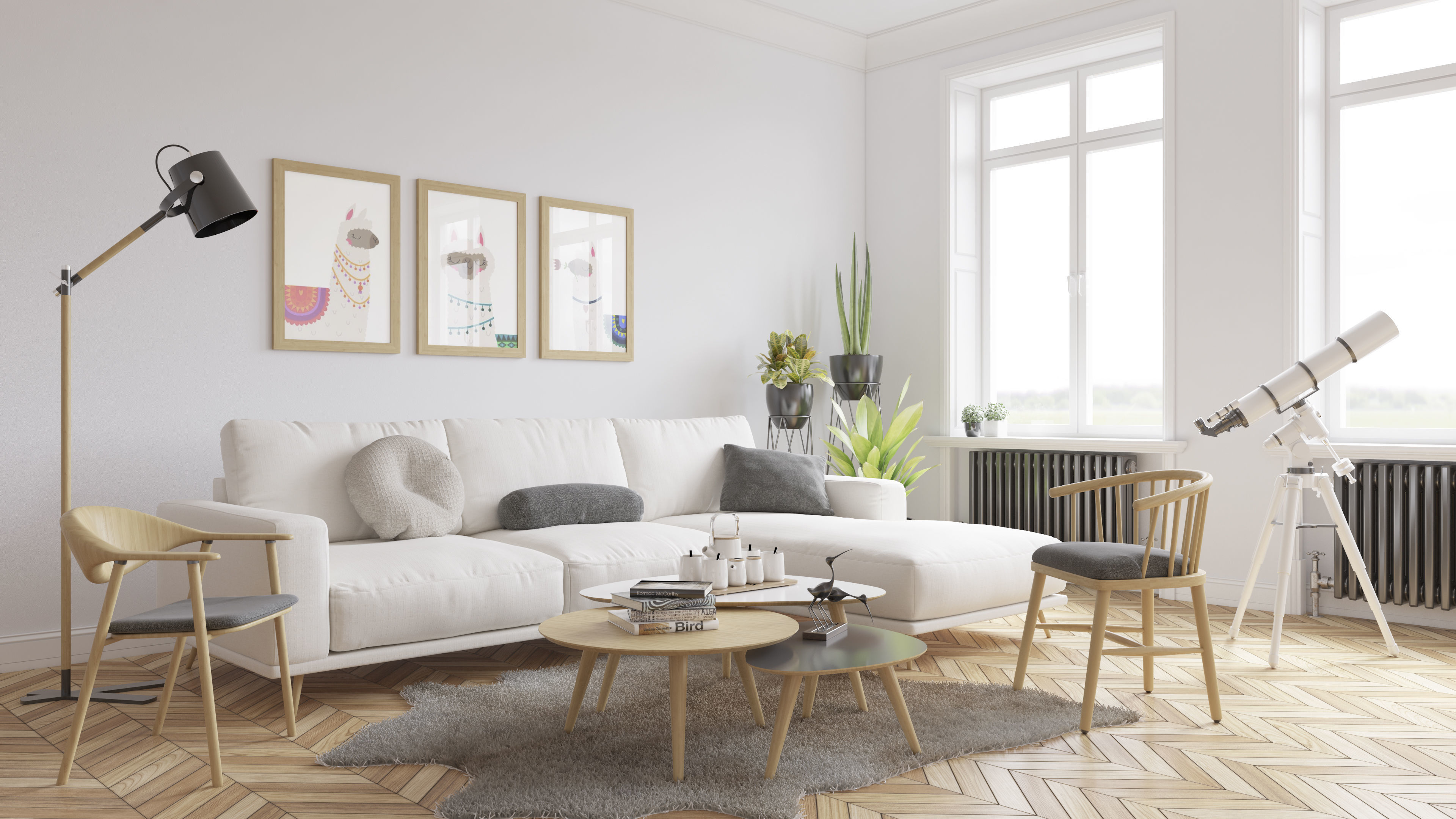 scandinavian living room 3d model vray settings and psd file 3d model low poly skp Top 10 Living Room Design